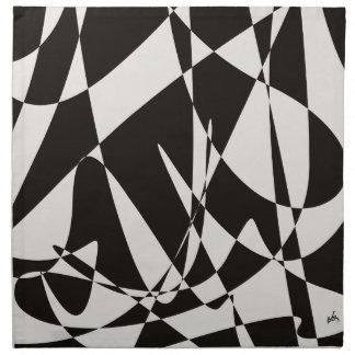 Blanco y negro abstracto servilletas de papel
