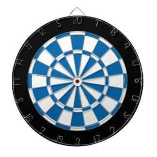 Blanco y negro azul del zafiro tablero de dardos