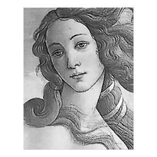 """Blanco y negro - Birh de Venus, diosa Folleto 8.5"""" X 11"""""""