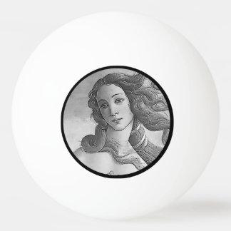 Blanco y negro - Birh de Venus, diosa Pelota De Ping Pong