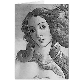 Blanco y negro - Birh de Venus, diosa Tarjeta De Felicitación