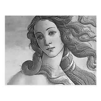 Blanco y negro - Birh de Venus, diosa Tarjeta Postal