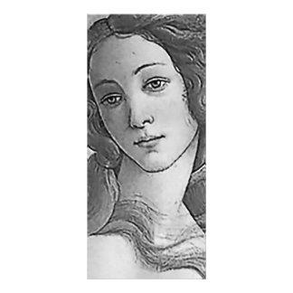 Blanco y negro - Birh de Venus, diosa Diseño De Tarjeta Publicitaria