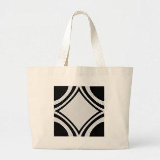 Blanco y negro bolsa tela grande