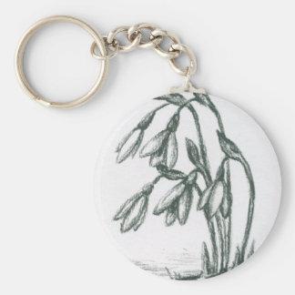 """""""blanco y negro"""", carbón de leña, dibujo, floral, llavero redondo tipo pin"""