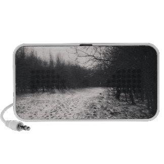Blanco y negro congelado iPod altavoz