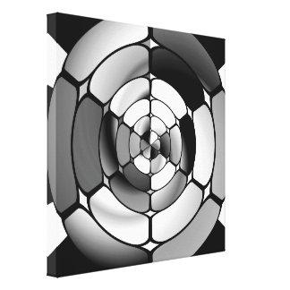 Blanco y negro cromada lona envuelta para galerias
