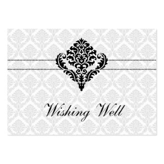 blanco y negro deseando tarjetas bien tarjeta de visita
