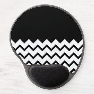 Blanco y negro. El zigzag de la parte, pieza negro Alfombrilla Gel