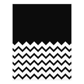 Blanco y negro. El zigzag de la parte, pieza negro Tarjeta Publicitaria