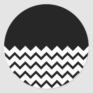 Blanco y negro El zigzag de la parte pieza negro Etiquetas