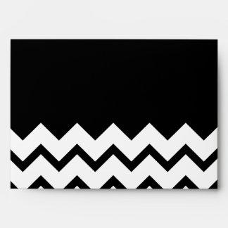 Blanco y negro. El zigzag de la parte, pieza negro