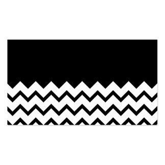 Blanco y negro. El zigzag de la parte, pieza negro Tarjetas De Visita