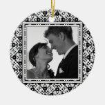 Blanco y negro elegante de la Reserva--Fecha Adorno De Reyes