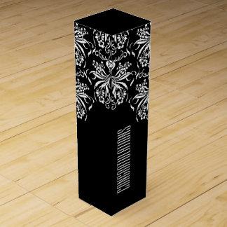 Blanco y negro elegante toda la ocasión caja para botella de vino