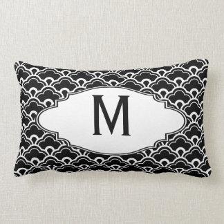 Blanco y negro fresco del modelo personalizado almohadas