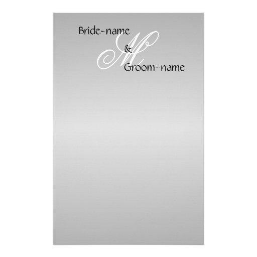 Blanco y negro gris del monograma de encargo del b  papeleria de diseño
