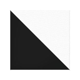 Blanco y negro impresión en lienzo