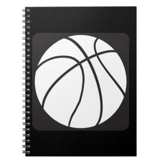 Blanco y negro libro de apuntes con espiral