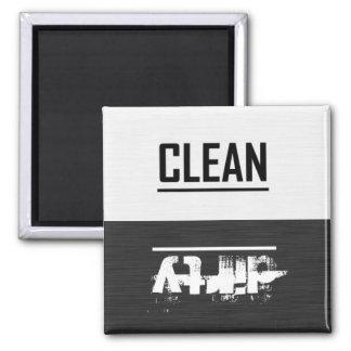 Blanco y negro limpie imán sucio del lavaplatos