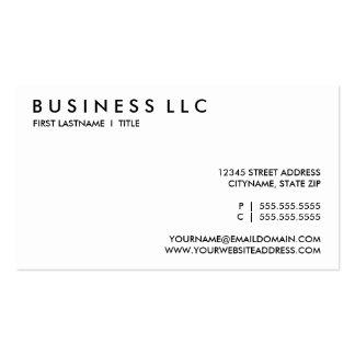 blanco y negro llano plantillas de tarjetas de visita
