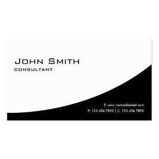 Blanco y negro moderno elegante llano profesional tarjetas de visita