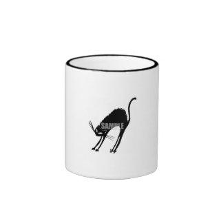 Blanco y negro - muestree taza de café del clipar