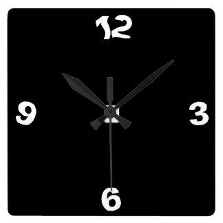 Blanco y negro peculiar > reloj de pared