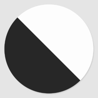 Blanco y negro pegatina redonda