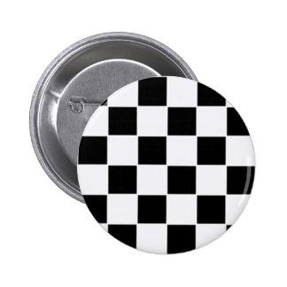 Blanco y negro pin redondo de 2 pulgadas