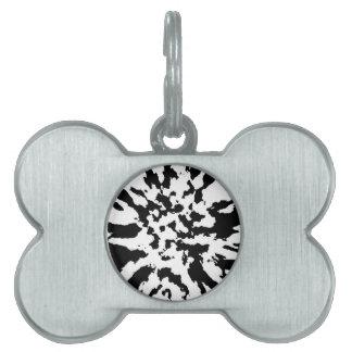 blanco y negro placas de nombre de mascota