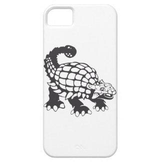 Blanco y negro prehistórico del dinosaurio del iPhone 5 carcasa