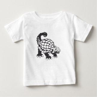 Blanco y negro prehistórico del dinosaurio del playera