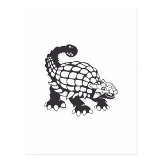 Blanco y negro prehistórico del dinosaurio del postales