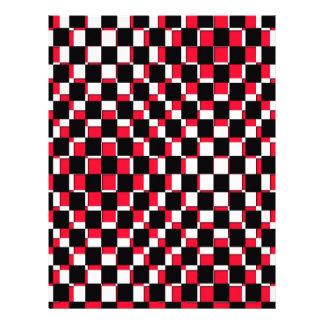 Blanco y negro rojo cuadrado abstracto membrete a diseño