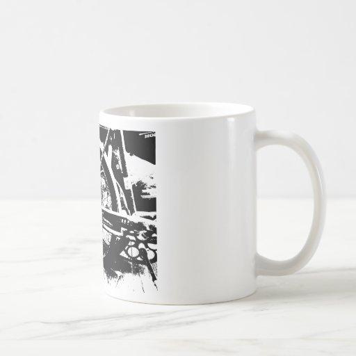blanco y negro taza básica blanca