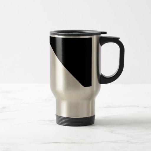 Blanco y negro taza de viaje
