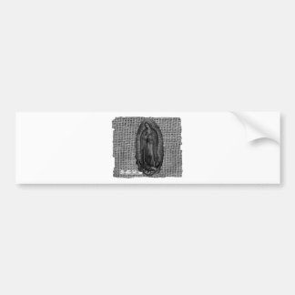 BLANCO Y NEGRO VIRGEN DE GUADALUPE CUSTOMIZABLE BUMPER STICKER