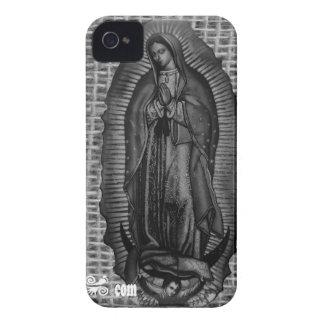 BLANCO Y NEGRO VIRGEN DE GUADALUPE CUSTOMIZABLE iPhone 4 CASES