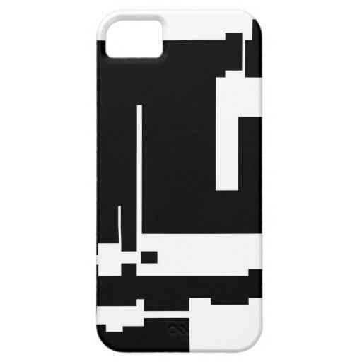 Blanco y negro y siempre derecho iPhone 5 fundas