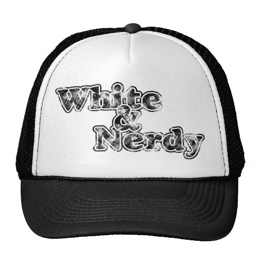 Blanco y Nerdy - casquillo Gorro