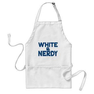 Blanco y Nerdy Delantal
