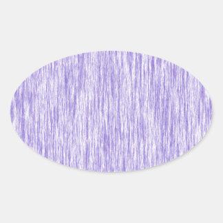 Blanco-Y-Oscuro-Violeta-Rendir-Fibra-Modelo Pegatina Ovalada