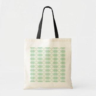 Blanco y pálido - modelo de flor verde bolsa tela barata