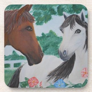 Blanco y pares del caballo de Brown - pintura de Posavaso