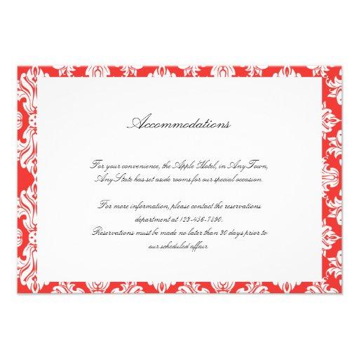 Blanco y parte movible del boda del damasco de la  comunicado
