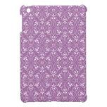 Blanco y púrpura adornados de moda del modelo del  iPad mini cárcasas