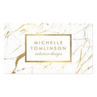 Blanco y tarjeta de visita de mármol del diseñador