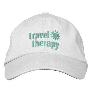 Blanco y verde menta bordados terapia del gorra gorra de beisbol bordada