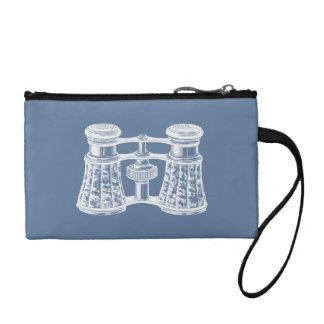 Blancos azules de los prismáticos del vintage